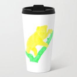 Bright Australian Native Wildlife - Yellow Koala Illustration Travel Mug