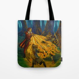 Burning Hands Tote Bag