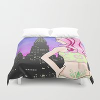 digimon Duvet Covers featuring Mark of Sincerity by AriesNamarie