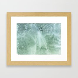 Silver green Framed Art Print