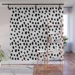 Hand drawn drops and dots on white - Mix & Match with Simplicty of life Wall Mural