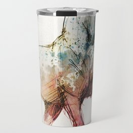Horse (Siwy / Silver / color version) Travel Mug