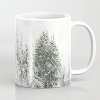 snowboarding Mugs featuring Winter Fresh by Pure Nature Photos