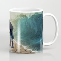 waves Mugs featuring Waves by Cs025