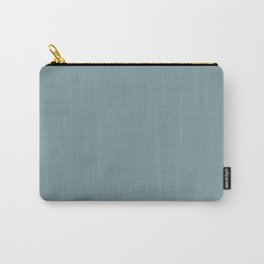 Aqua Blue Green Solid Color Pairs to Sherwin Williams Tranquil Aqua SW 7611 Carry-All Pouch
