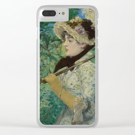 Jeanne (Spring) by Édouard Manet (1881) Clear iPhone Case
