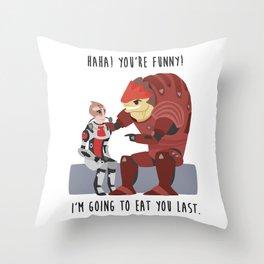 Mass Effect - Wrex and Mordin Throw Pillow