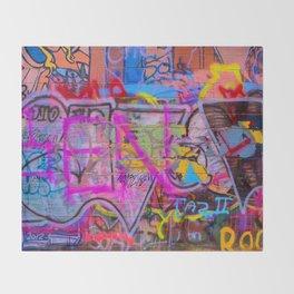 Bright Graffiti Throw Blanket