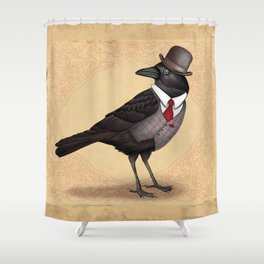 Mr Crow On Payday Shower Curtain