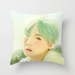 Mint Yoongi Throw Pillow