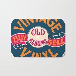 Vintage Vinyl, Old Album Bath Mat