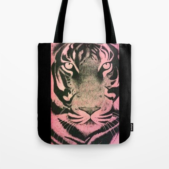 Be a Tiger (Pink) Tote Bag