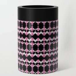 Pink Flamingos Art Deco Pattern Can Cooler