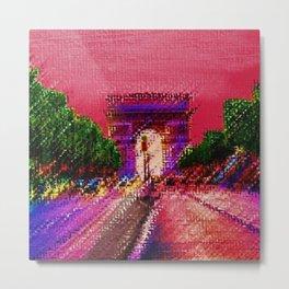 Arc de Triomphe, Paris France Landscape by Jeanpaul Ferro Metal Print
