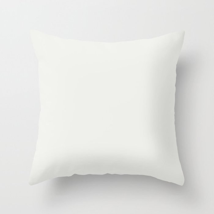 Sherwin Williams Trending Colors of 2019 Extra White SW 7006 Solid Color Throw Pillow