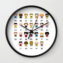 Pixel Star Trek Alphabet Wall Clock