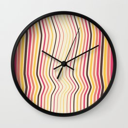 OpArt WaveLines 4 Wall Clock