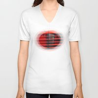 ferrari V-neck T-shirts featuring Ferrari Testarossa by Rainer Steinke