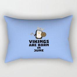 Vikings are born in June T-Shirt Dj328 Rectangular Pillow
