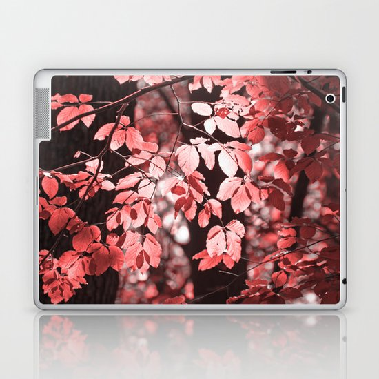Red leaves Laptop & iPad Skin
