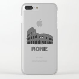 Rome Colosseum Clear iPhone Case