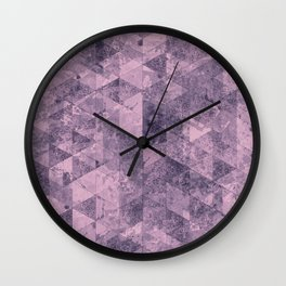 Abstract Geometric Background #28 Wall Clock