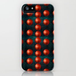 SHINY RED GOLFBALLS iPhone Case
