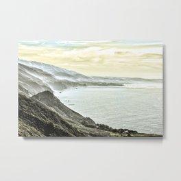 Somewhere over Big Sur. Metal Print
