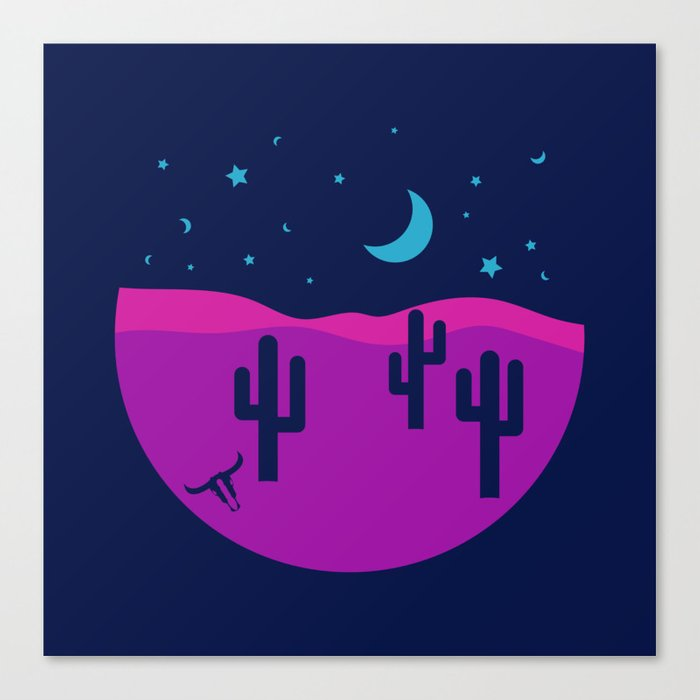 Modern Desert Cactus Scene #desert #cactus Canvas Print