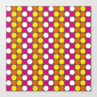 polka dots Canvas Prints featuring polka dots by nandita singh