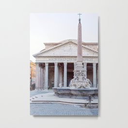 Pantheon - Rome Italy Travel Photography Metal Print