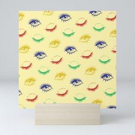 Best eyelashes design patterns Mini Art Print
