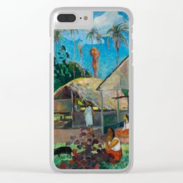 The Black Pigs - Tropical Painting - Paul Gauguin Clear iPhone Case