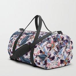 Beautiful watercolor flowers. Blue morning filed Duffle Bag