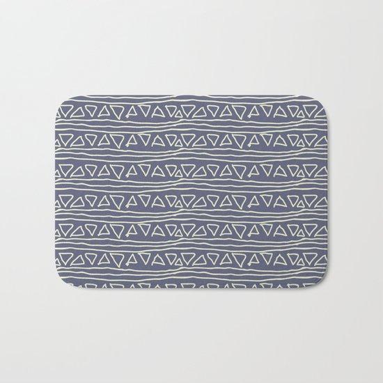Blue Scribbles Pattern 03 Bath Mat
