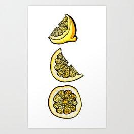 Trois Citrons 1 Art Print