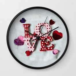 LOVE photography print Wall Clock