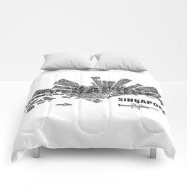 Singapore Map Comforters