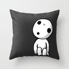 Kodama! Throw Pillow