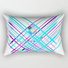 Improvised Geometry Nr. 2, Abstract Rectangular Pillow