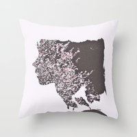blush Throw Pillows featuring Blush by Jane Lacey Smith