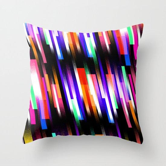 Distorted Skyline Throw Pillow