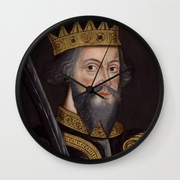 Vintage William The Conqueror Portrait Wall Clock