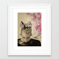 olivia joy Framed Art Prints featuring Olivia by Claire Lee Art