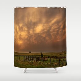 Afterglow - Clouds Glow After Storms at Sunset Shower Curtain