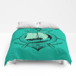 Anchor Wheel & Wooden Sailer Comforters