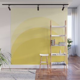 Four Shades of Yellow Curved Wall Mural