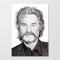 kurt rahn Canvas Prints featuring Kurt by Rik Reimert