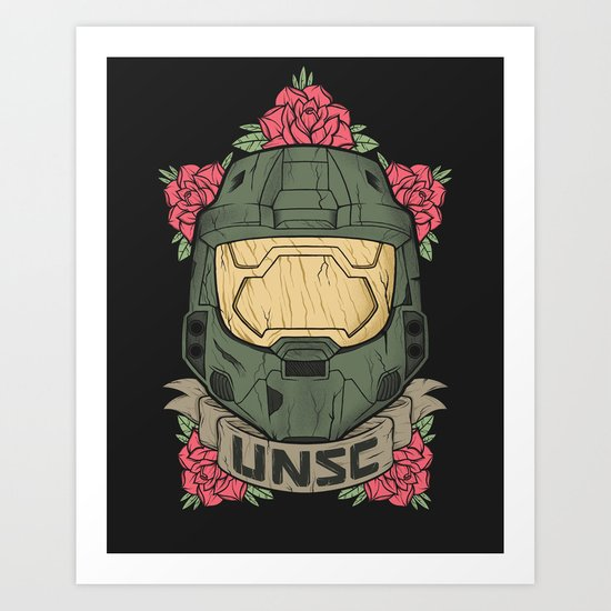 Halo UNSC Art Print