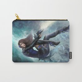 Espionage 101 - Futuristic sci-fi girl spy Carry-All Pouch